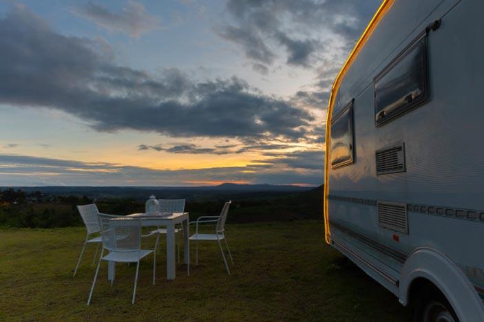 location caravane camping pornic