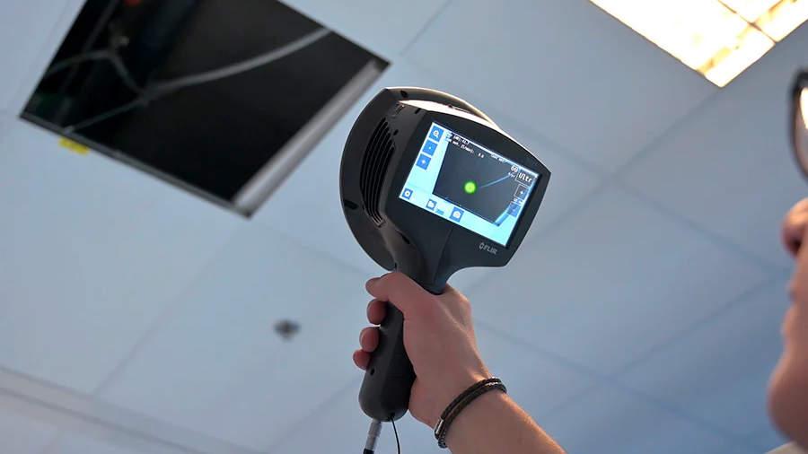 Détection de fuite d'eau par caméra thermique